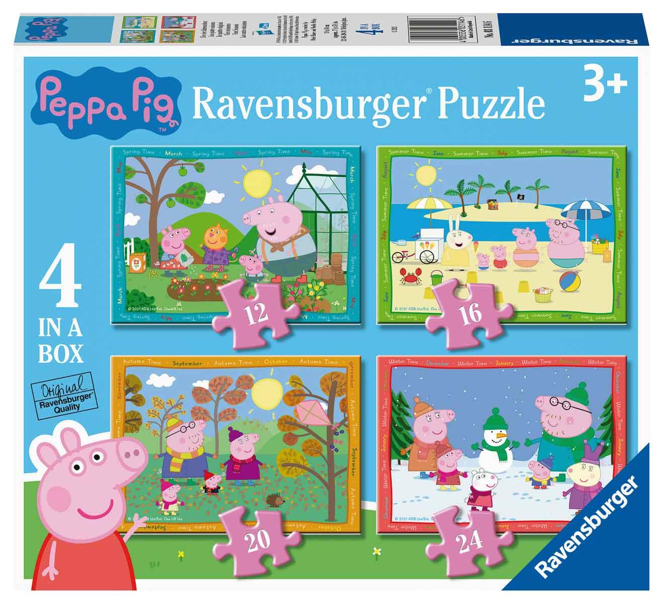 Puzzle Ravensburger Peppa Pig Progresivo de 12+16+20+24 Piezas