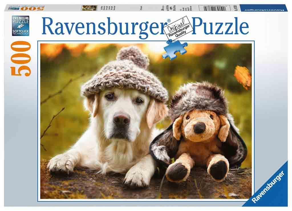 Puzzle Ravensburger Perro con Gorro de 500 Piezas