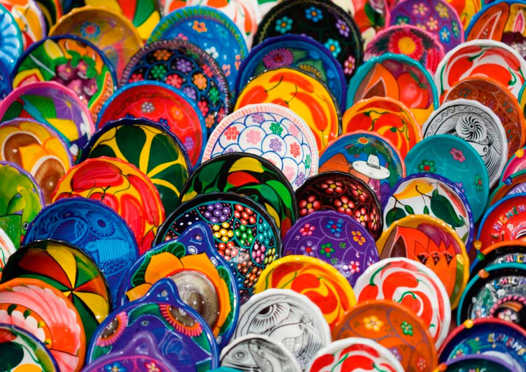 Puzzle Ravensburger Platos Coloridos de 1000 Piezas