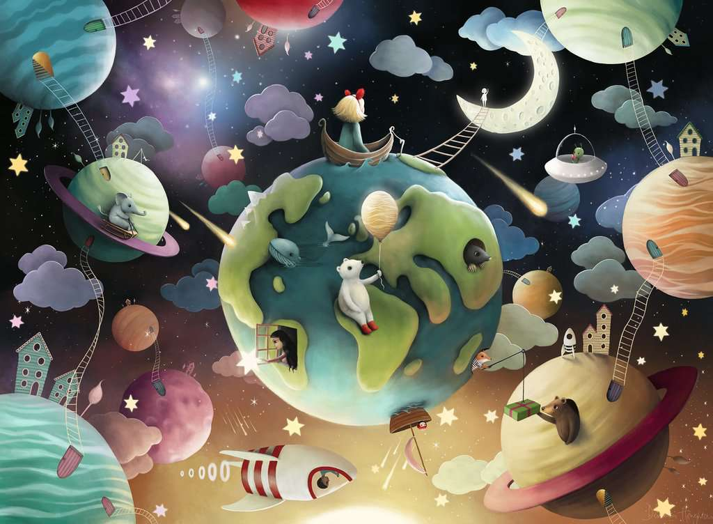Puzzle Ravensburger Planetas Fantásticos XXL de 100 Piezas