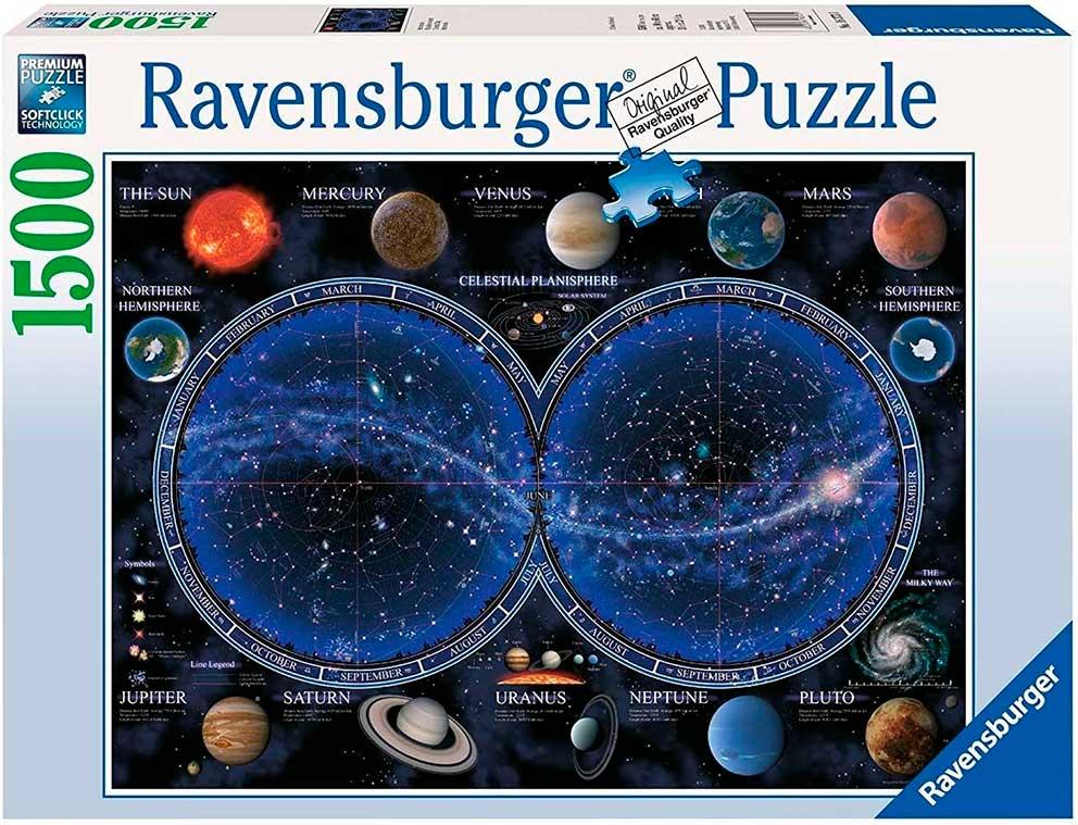 Puzzle Ravensburger Mapa Planisferio Celeste de 1500 Piezas