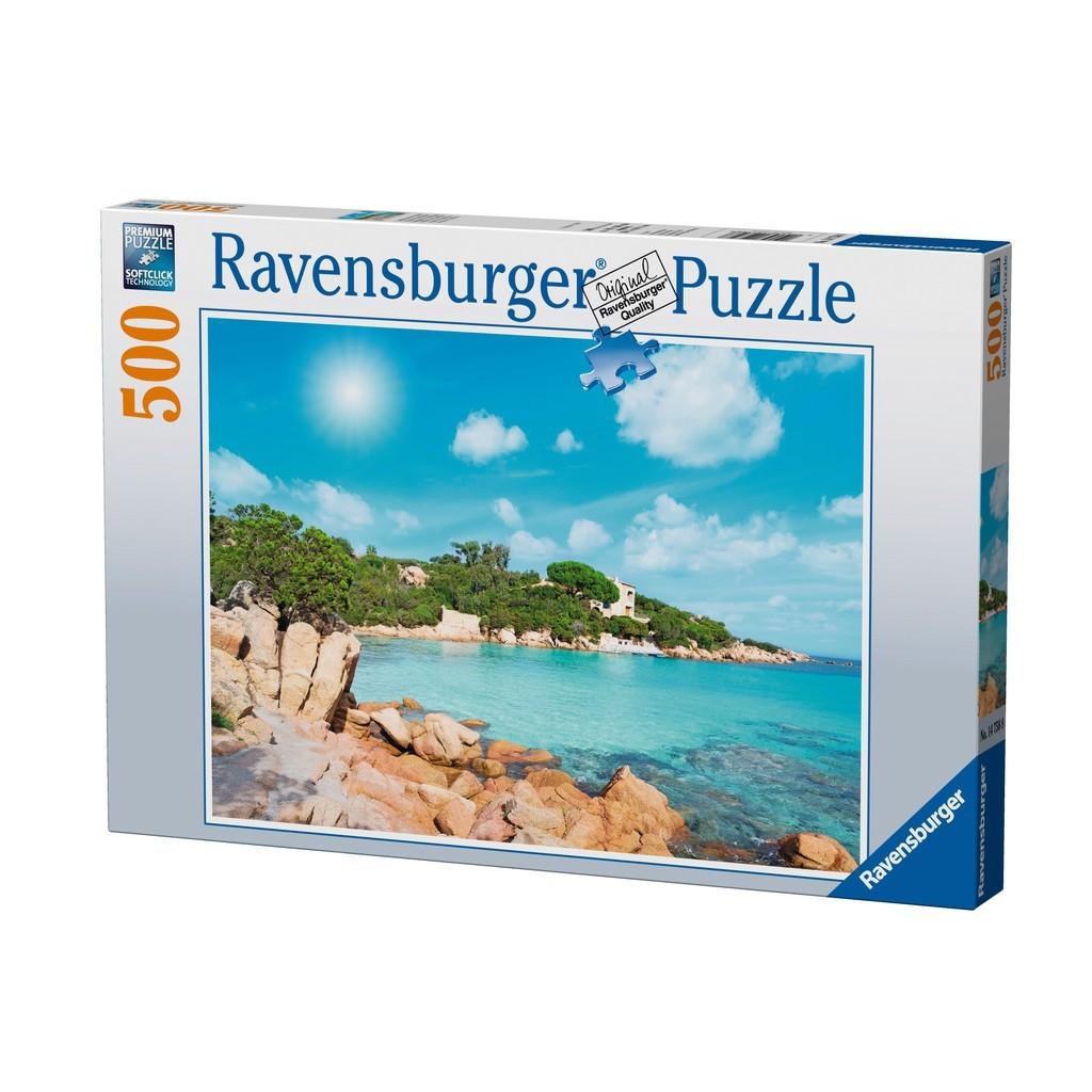 Puzzle Ravensburger Playa en Cerdeña de 500 Piezas
