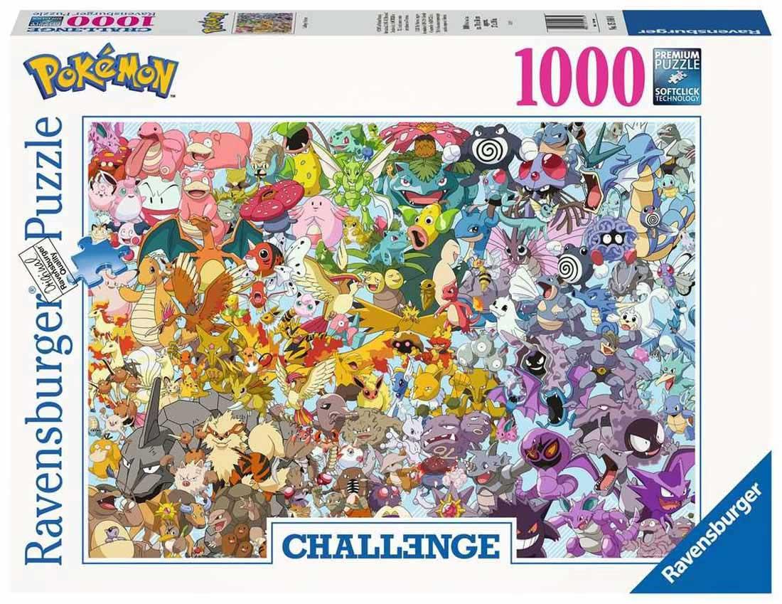 Puzzle Ravensburger Pokemon Challenge de 1000 Piezas