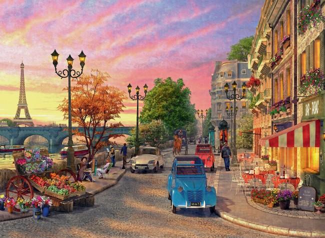 Puzzle Ravensburger Por la Noche en París de 500 Piezas