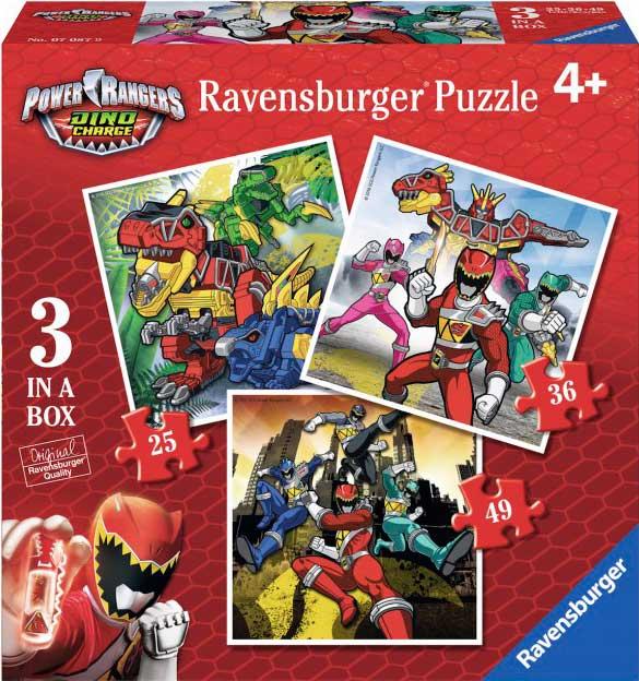 Puzzle Ravensburger Power Rangers Progresivo 25+36+49