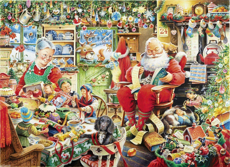 Puzzle Ravensburger Preparando la Navidad de 1000 Piezas