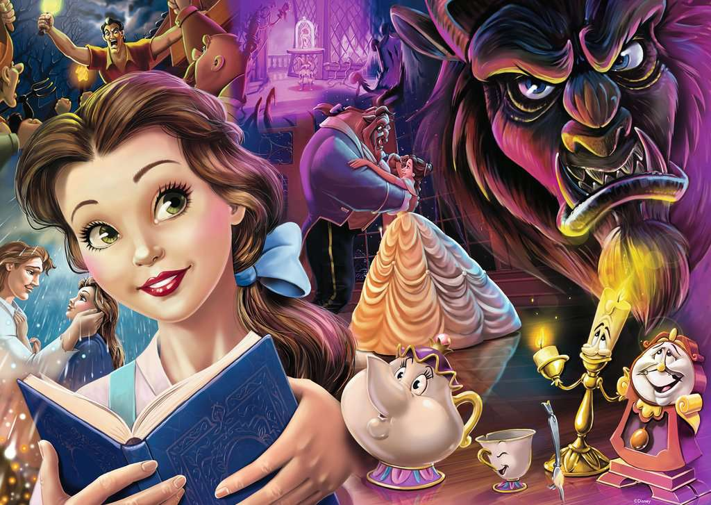 Puzzle Ravensburger Princesas, Bella y Bestia 1000 Piezas