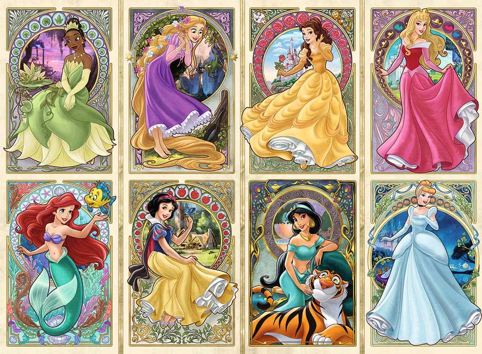 Puzzle Ravensburger Princesas Disney Art Nouveau de 1000 Piezas