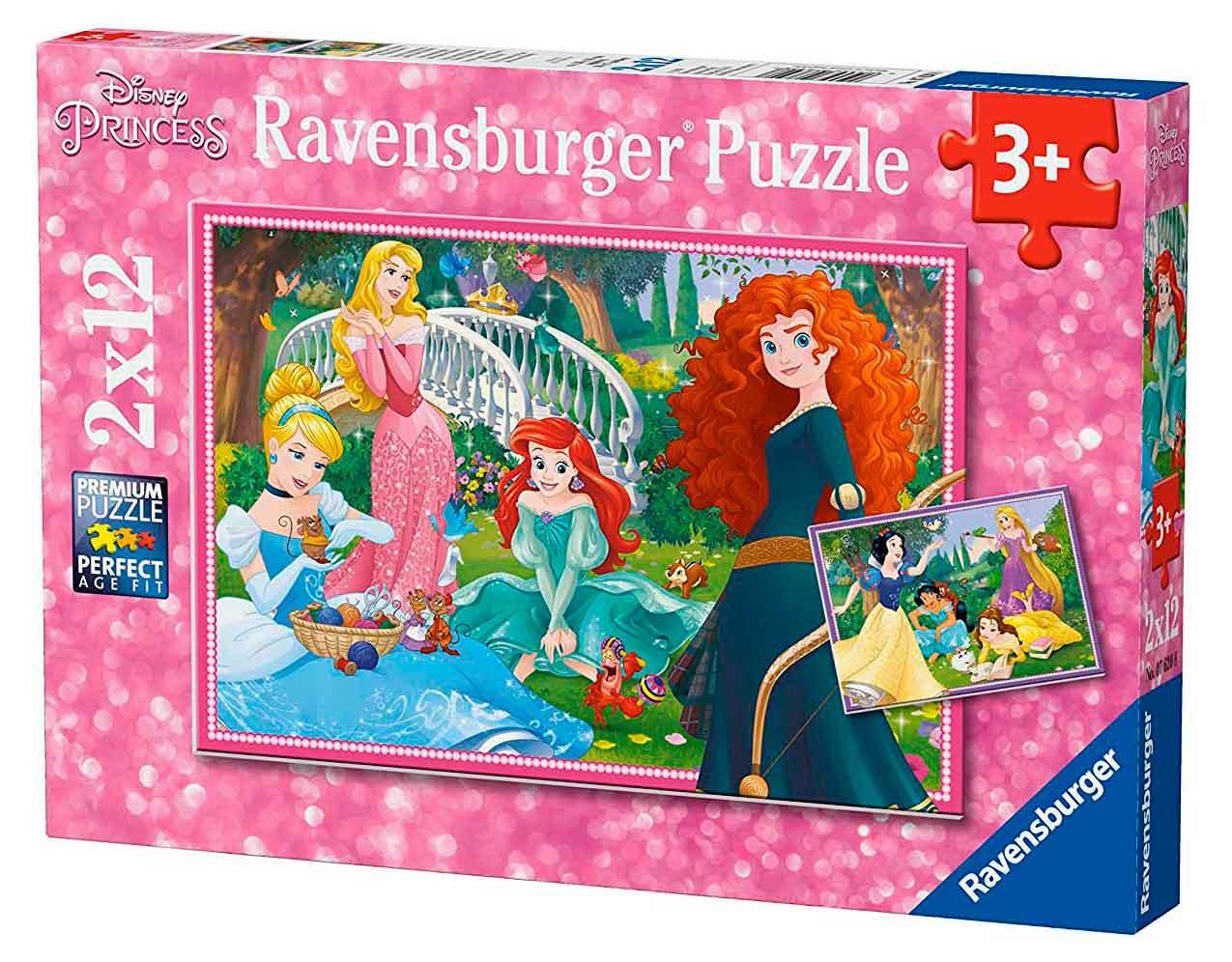 Puzzle Ravensburger Princesas Disney de 2x12 Piezas
