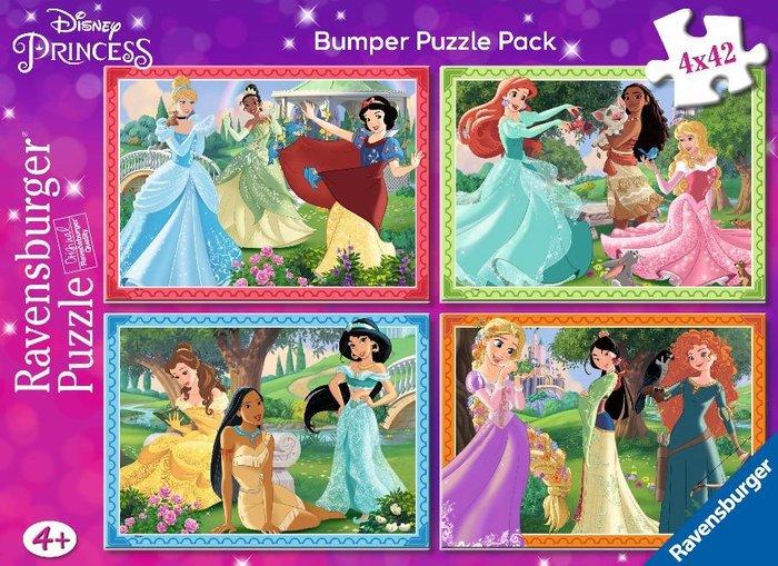 Puzzle Ravensburger Princesas Disney de 4x42 Piezas