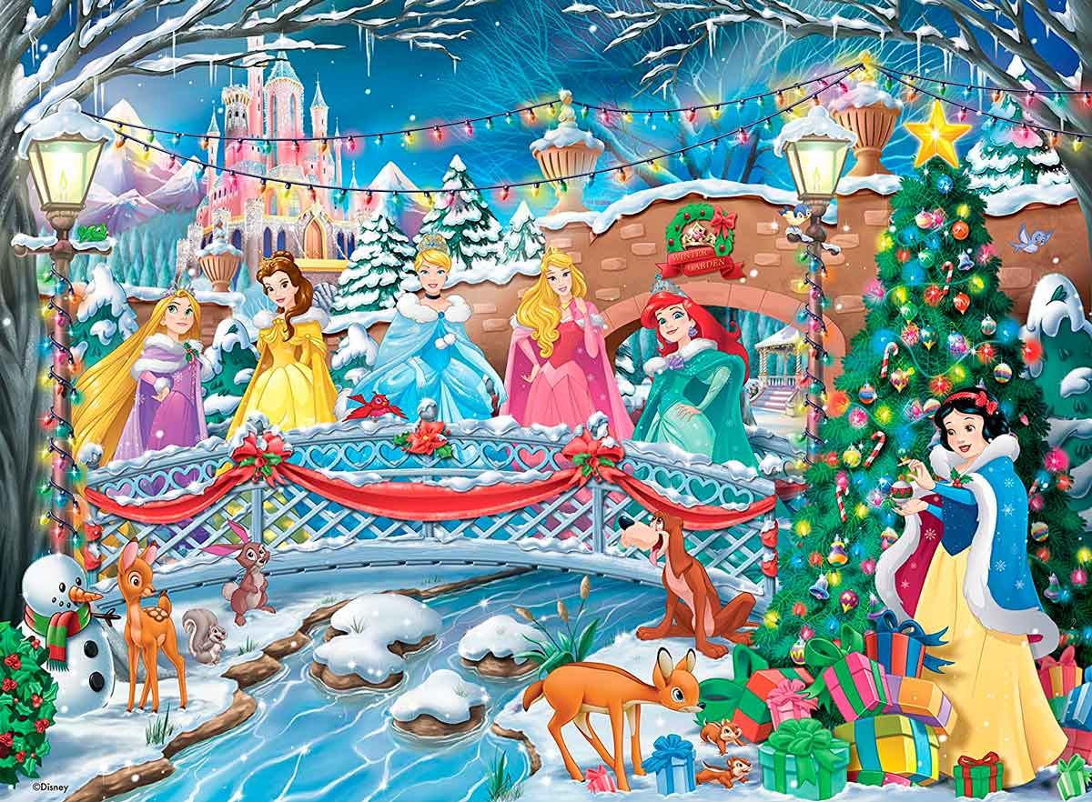 Puzzle Ravensburger Princesas Disney Navideñas, de 500 Pzs