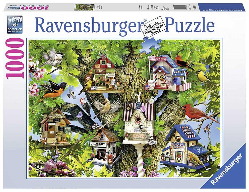 Puzzle Ravensburger Pueblo de Aves de 1000 Piezas