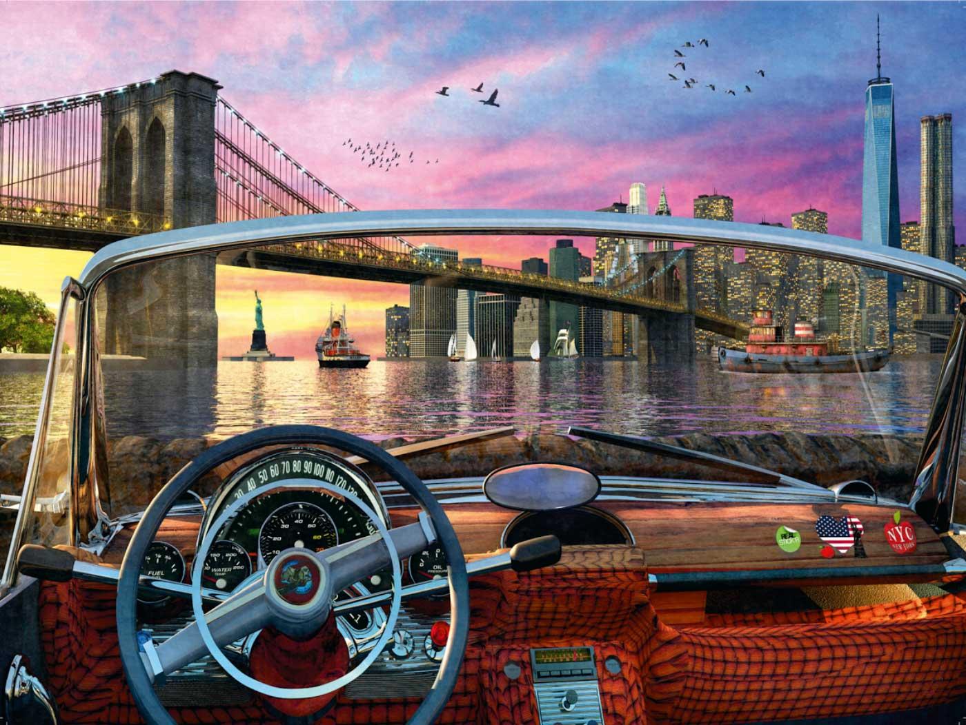 Puzzle Ravensburger Puente de Brooklyn de 1000 Piezas