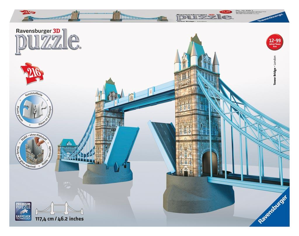 Puzzle Ravensburger Puente de las Torres, Londres 3D 216 Piezas