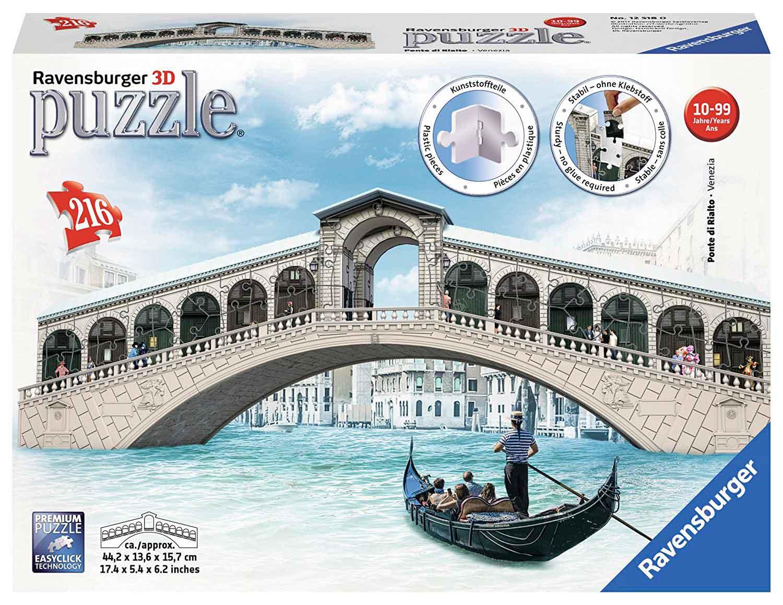 Puzzle Ravensburger Puente de Rialto 3D 216 Piezas