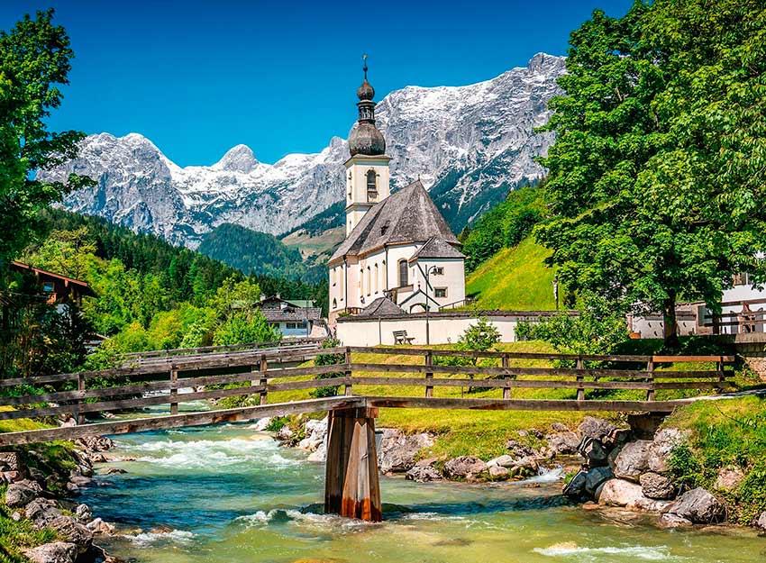 Puzzle Ravensburger Ramsau, Baviera de 300 Piezas XXL
