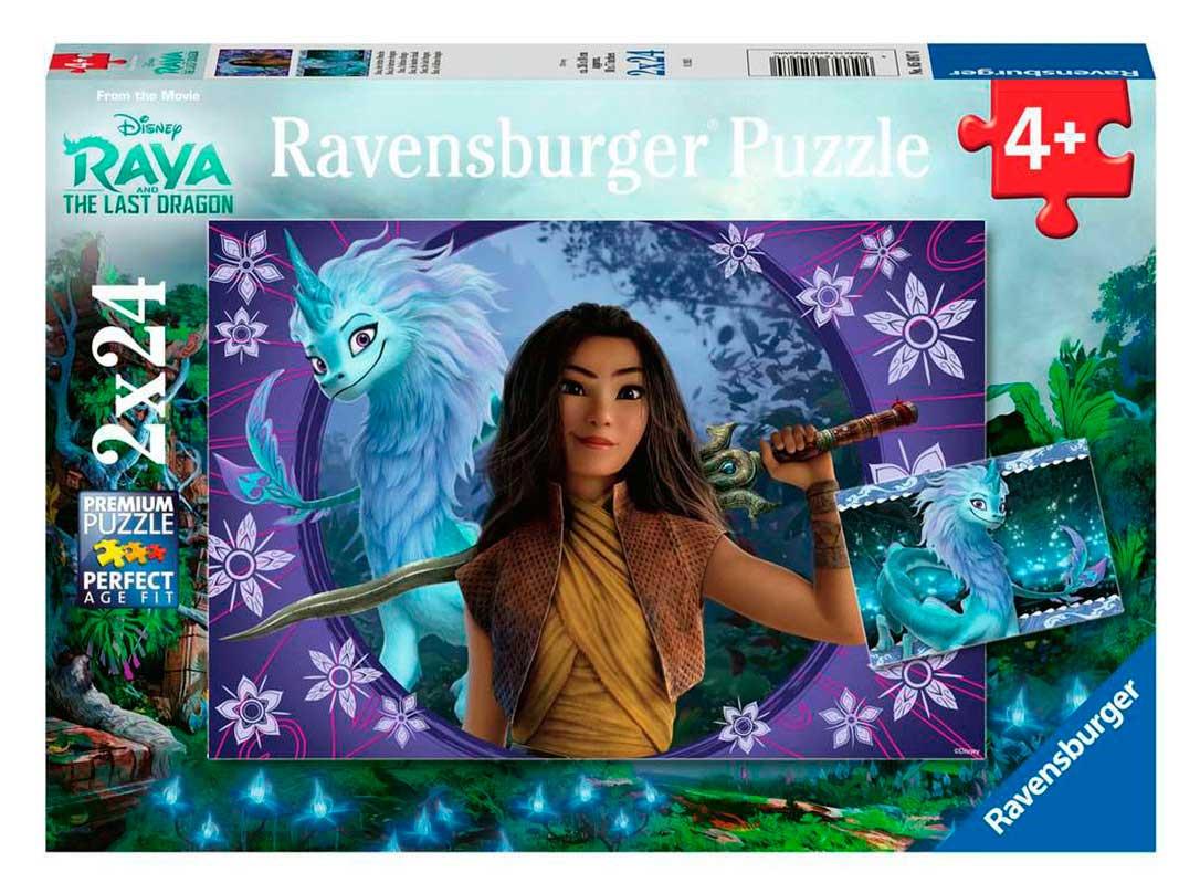 Puzzle Ravensburger Raya y El Último Dragón de 2x24 Piezas