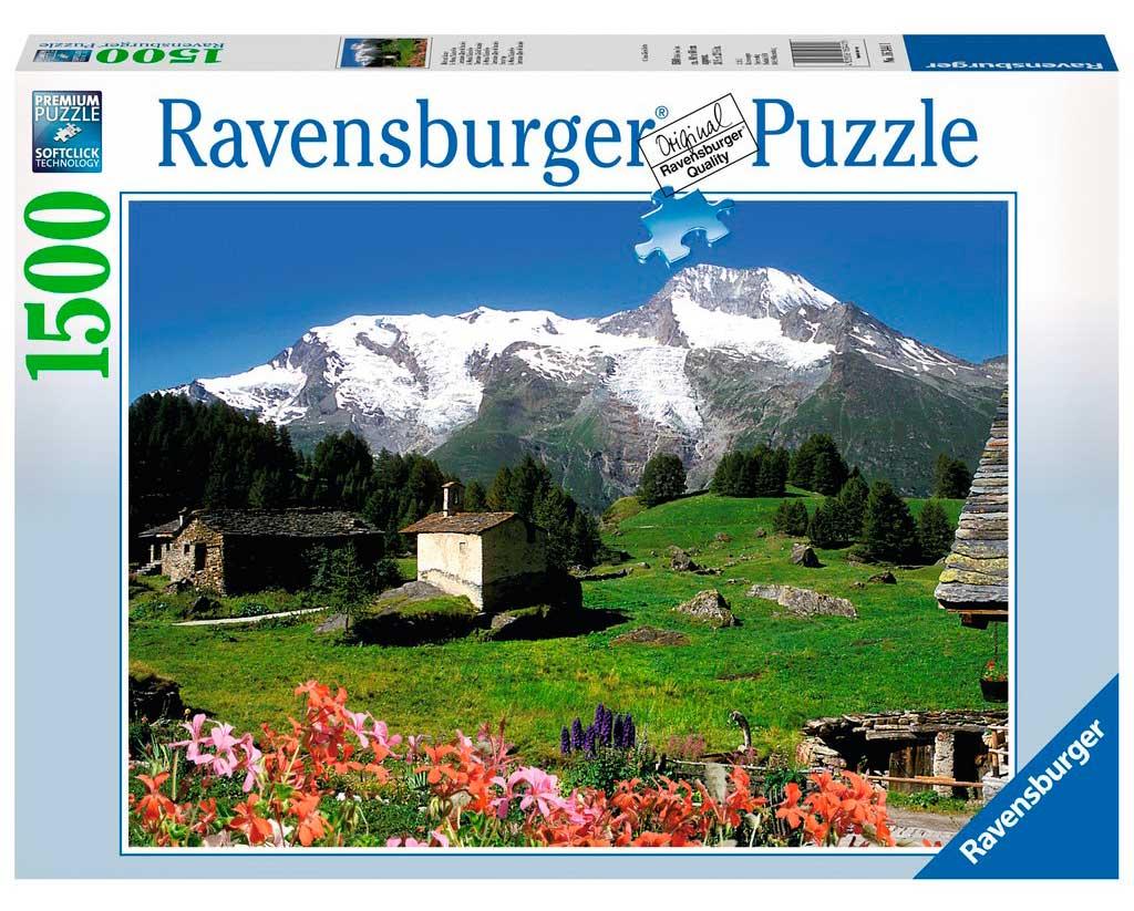 Puzzle Ravensburger Refugio de Montaña en los Alpes, 1500 Pzs