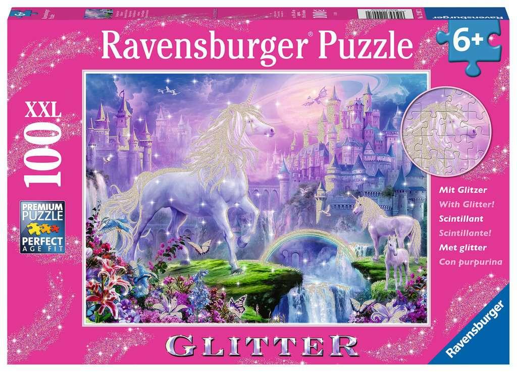 Puzzle Ravensburger Reino de Unicornios XXL de 100 Piezas