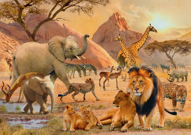 Puzzle Ravensburger Reserva Africana de 1000 Piezas