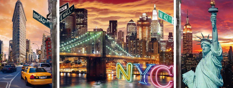 Puzzle Ravensburger Resplandeciente Nueva York, Tríptico de 1000