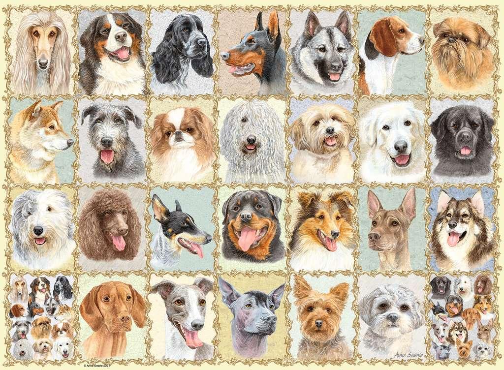 Puzzle Ravensburger Retratos de Perros de 500 Piezas