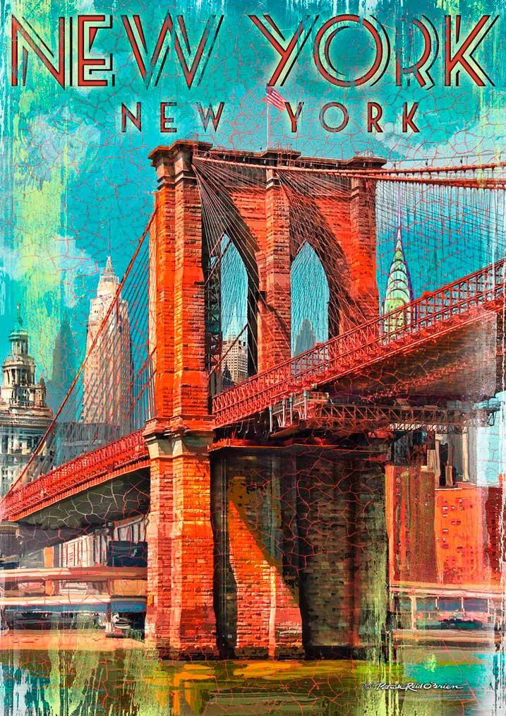 Puzzle Ravensburger Retro Nueva York 1000 Piezas
