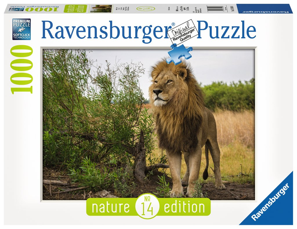 Puzzle Ravensburger Rey de los Leones de 1000 Pieza
