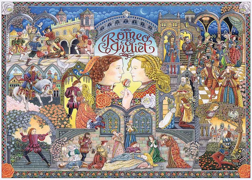 Puzzle Ravensburger Romeo y Julieta de 1000 Piezas