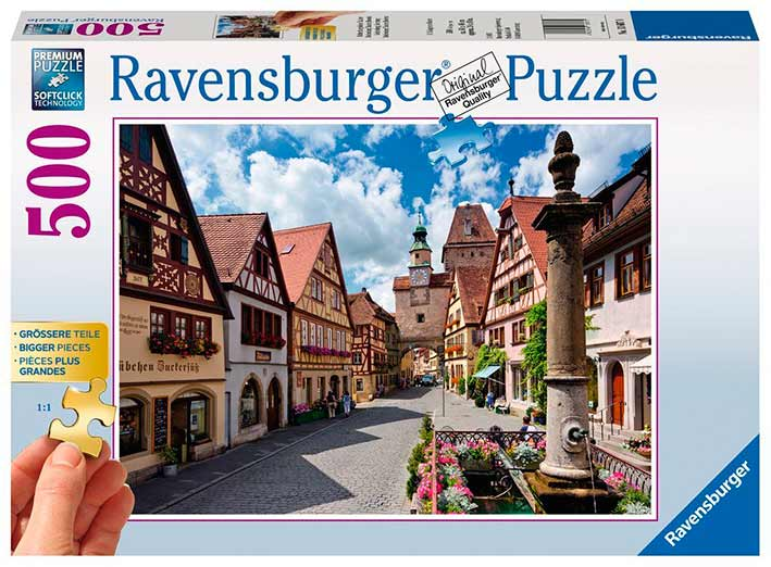Puzzle Ravensburger Rothenburg, Alemania 500 Piezas