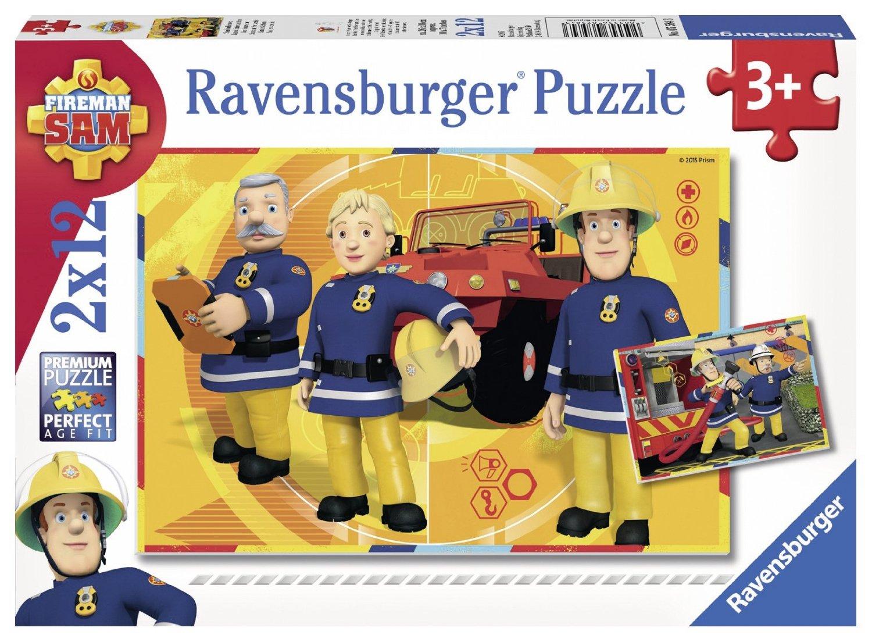 Puzzle Ravensburger Sam el Bombero 2x12 Piezas