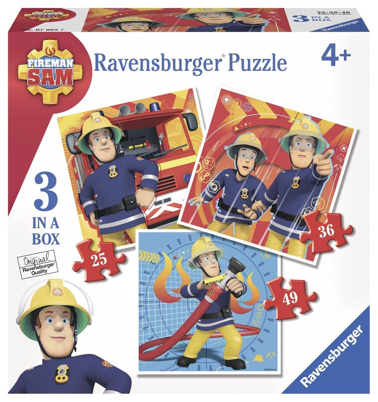 Puzzle Ravensburger Sam el Bombero Progresivo 25+36+49