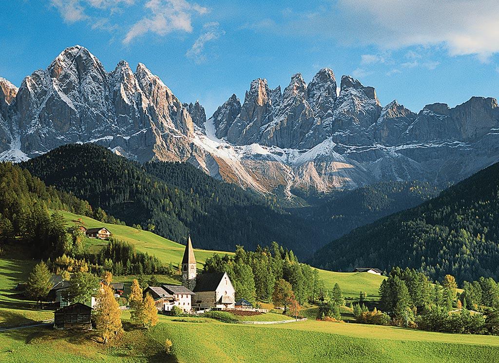 Puzzle Ravensburger Santa Magdalena, Dolomitas de 1500 Piezas