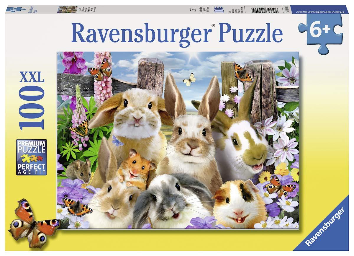 Puzzle Ravensburger Selfie de Conejitos XXL de 100 Piezas