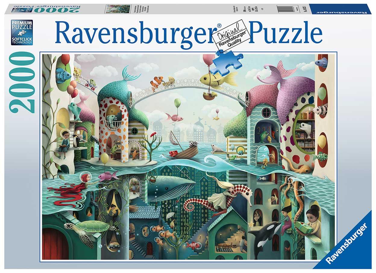 Puzzle Ravensburger Si los Peces Pudieran Caminar de 2000 Piezas