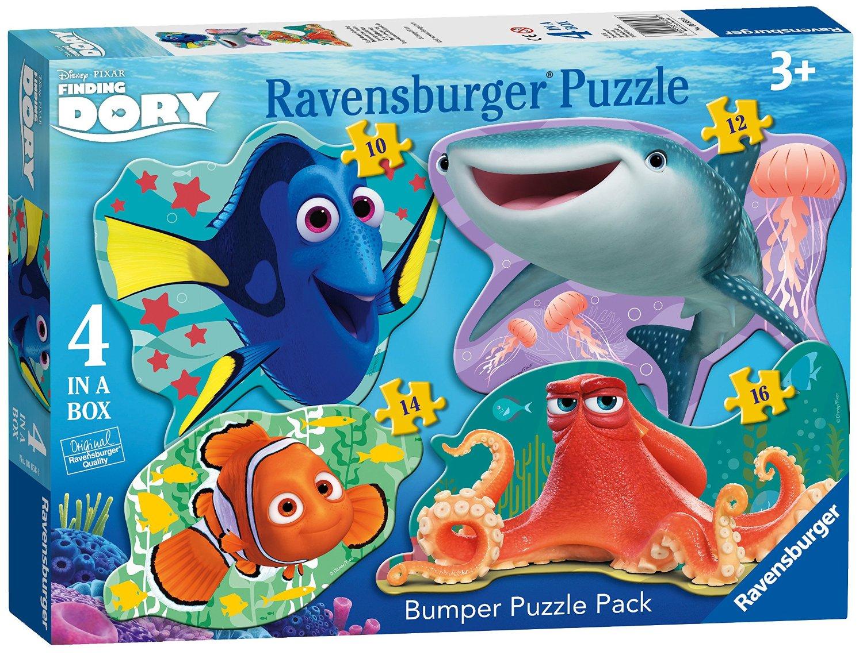 Puzzle Ravensburger Siluetas Buscando a Dory 10+12+14+16 Piezas