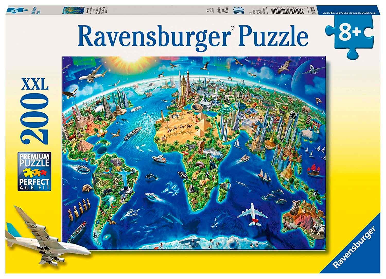 Puzzle Ravensburger Símbolos del Mundo XXL de 200 Piezas