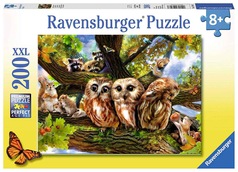 Puzzle Ravensburger Simpáticos Búhos XXL de 200 Piezas