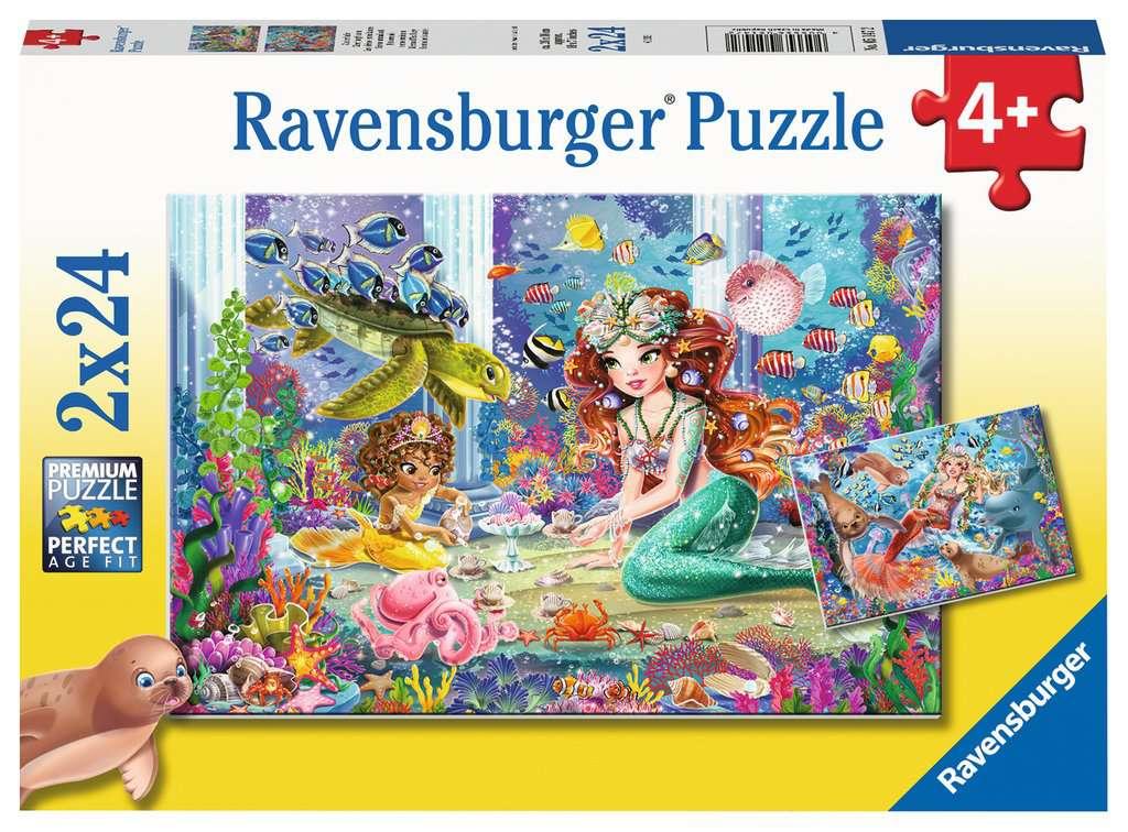 Puzzle Ravensburger Sirenas Hechizantes de 2x24 Piezas