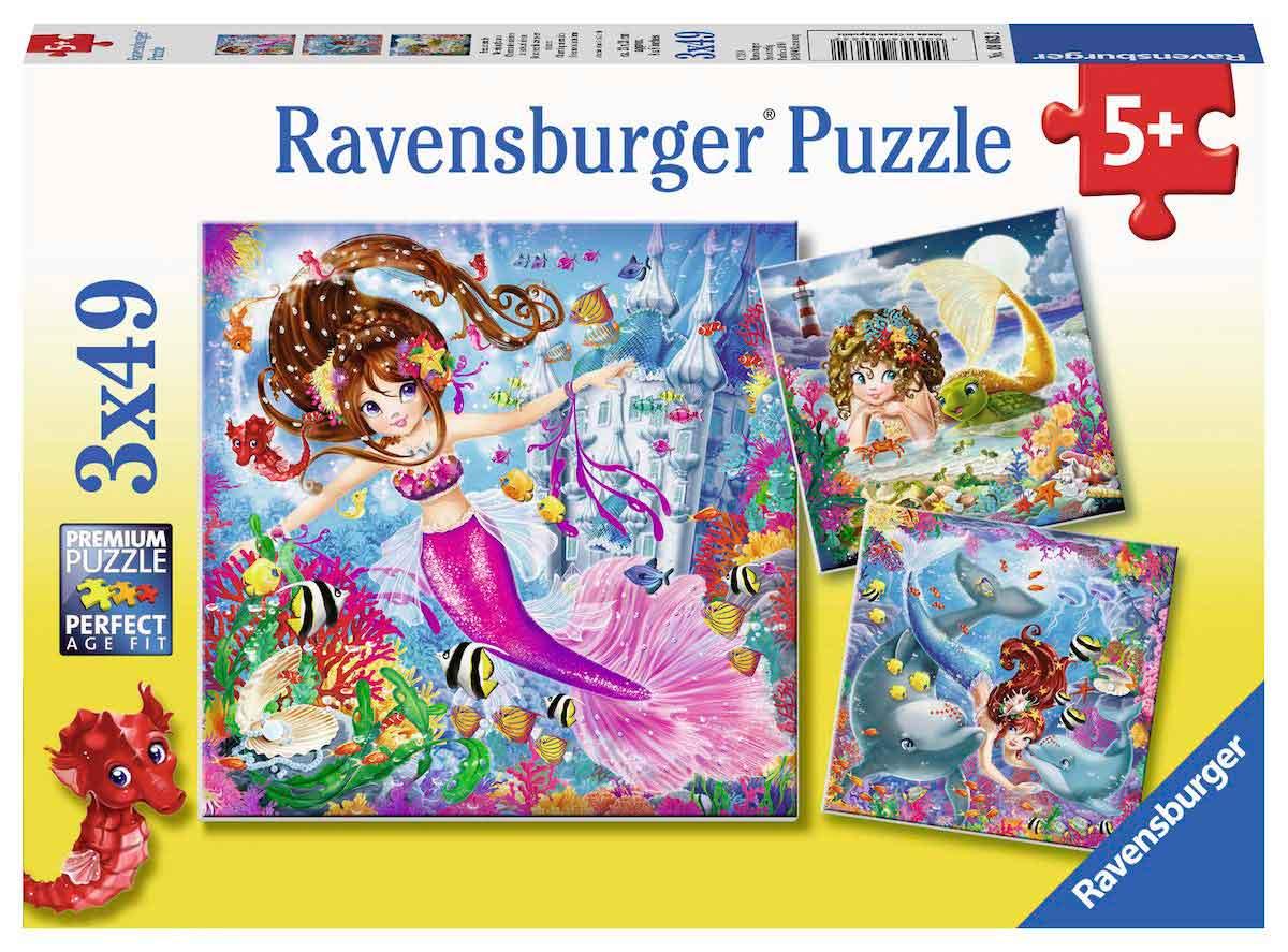 Puzzle Ravensburger Sirenas Encantadoras de 3x49 Piezas