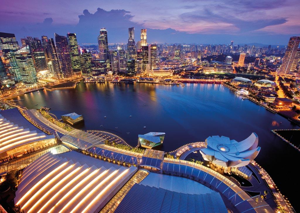 Puzzle Ravensburger Skyline de Singapur de 1000 Piezas