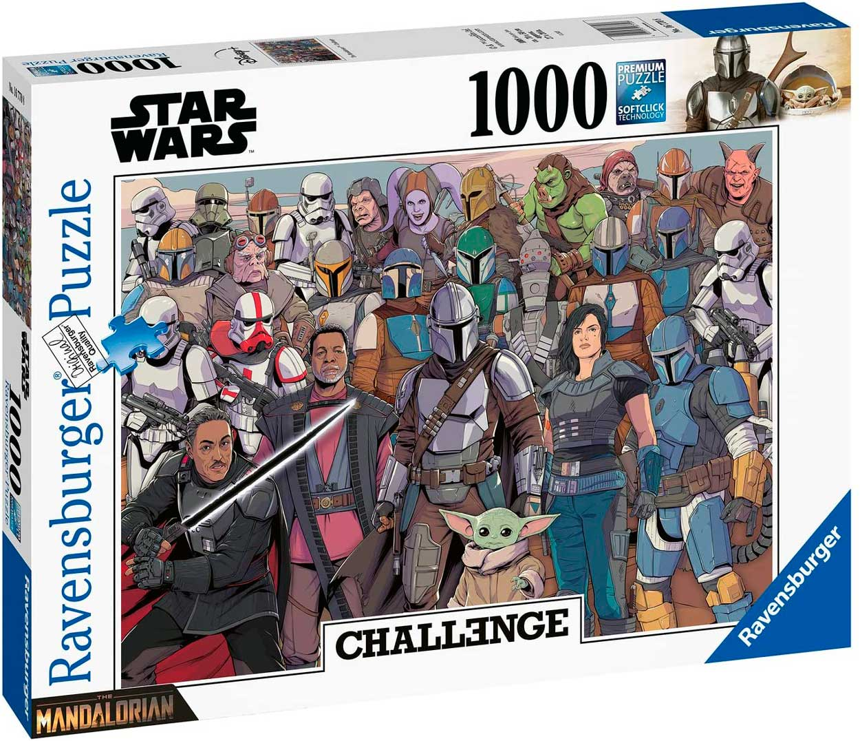 Puzzle Ravensburger Star Wars Baby Yoda Challenge de 1000 Pzs
