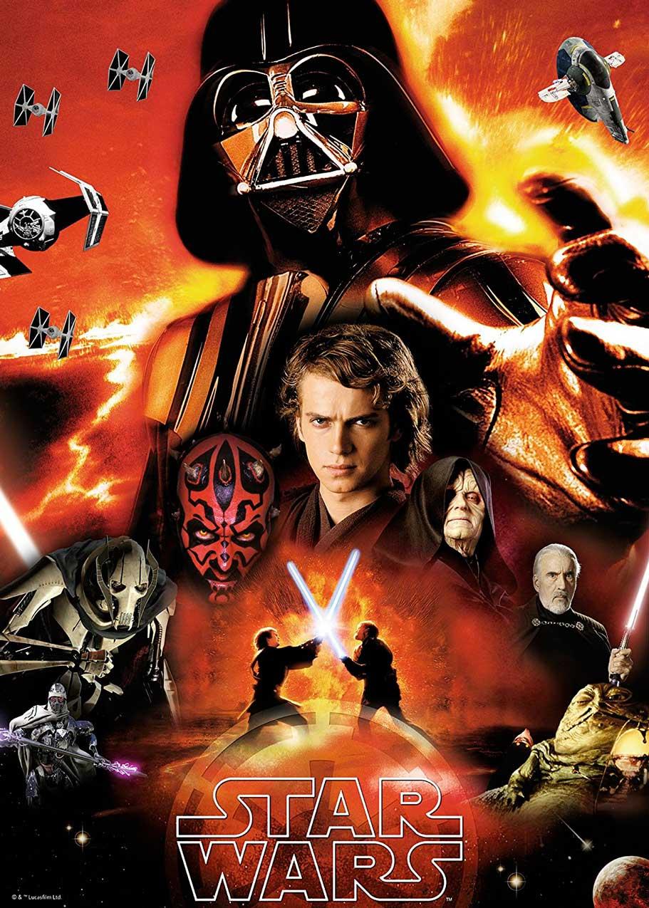 Puzzle Ravensburger Star Wars, El Lado Oscuro 1000 Piezas