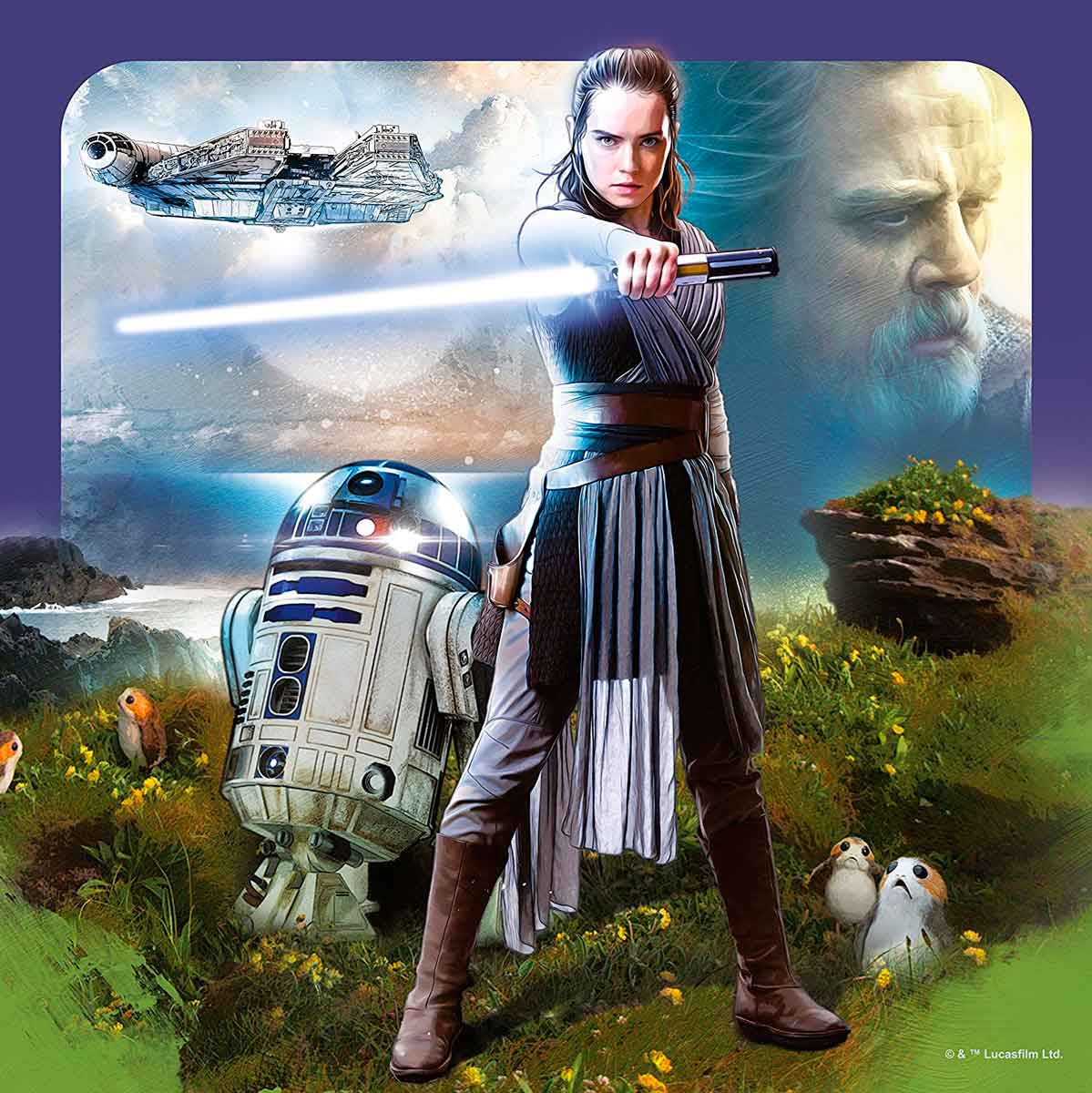 Puzzle Ravensburger Star Wars Episodio VIII, de 3x49 Piezas