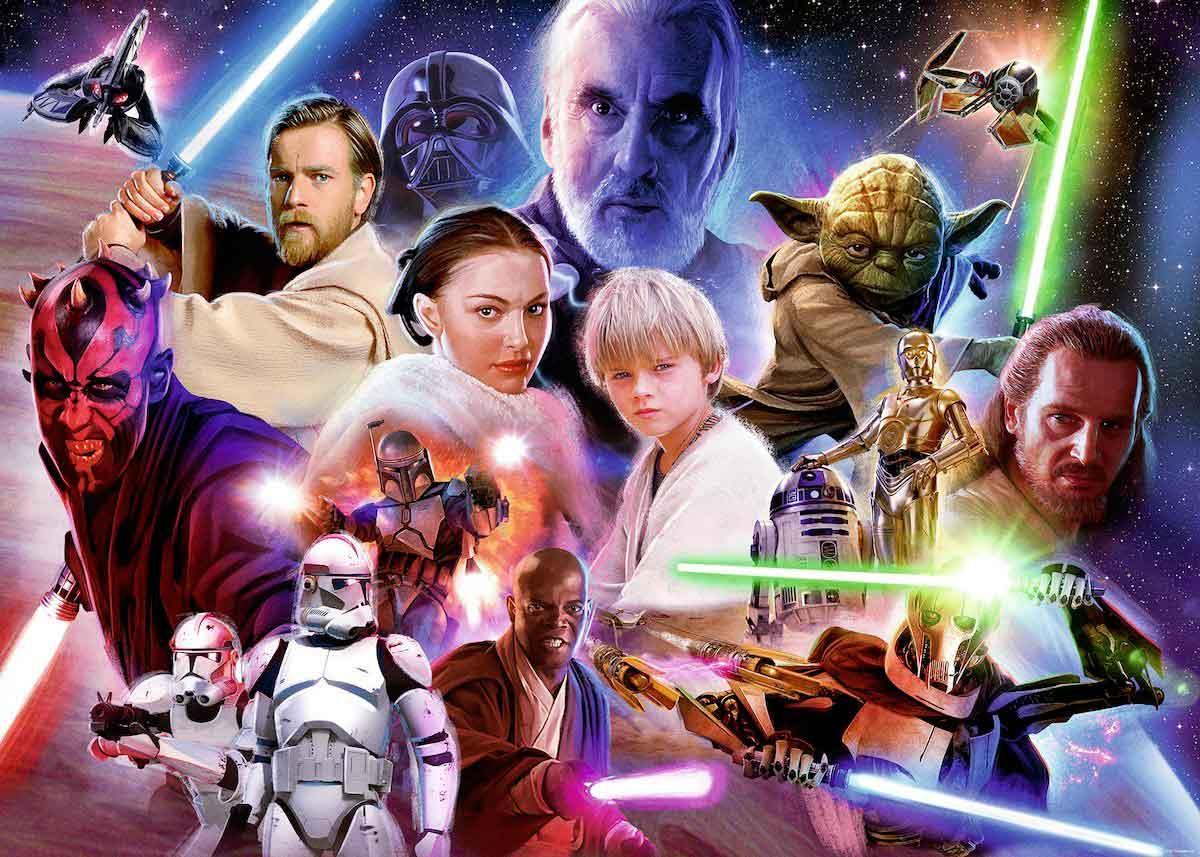 Puzzle Ravensburger Star Wars Precuelas de 1000 Piezas