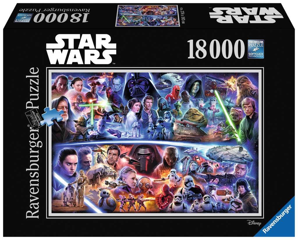 Puzzle Ravensburger Star Wars Saga Galáctica, de 18000 Piezas