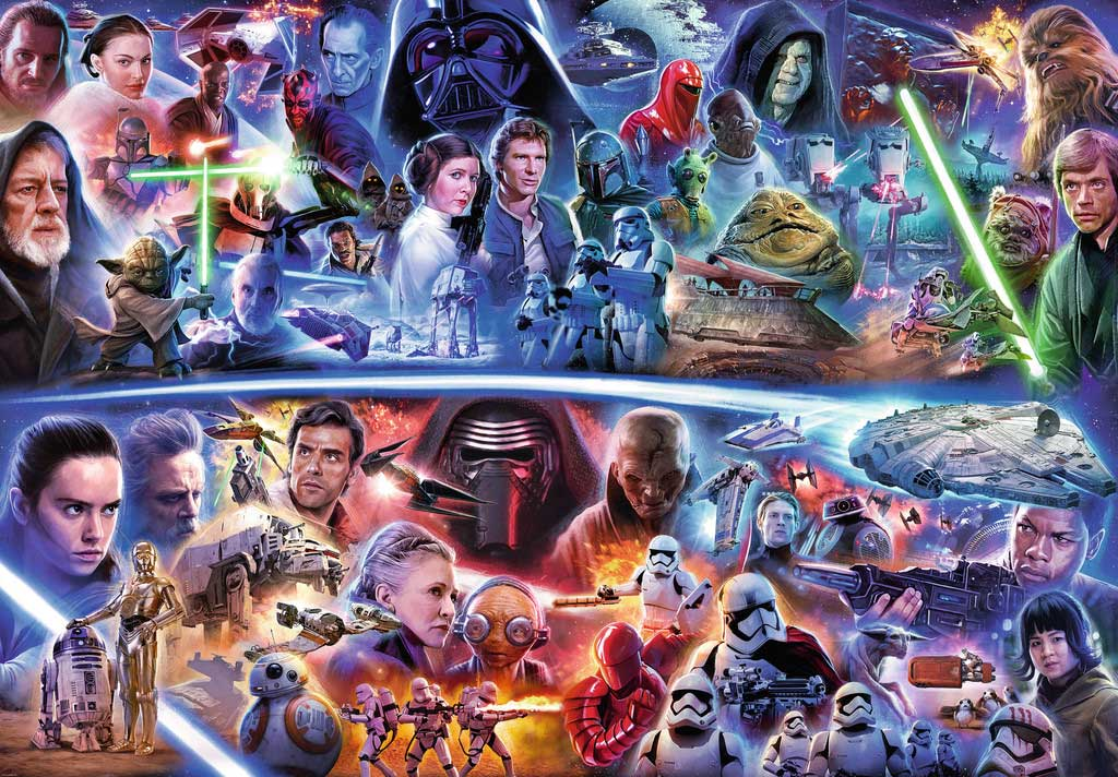 Comprar puzzle ravensburger star wars saga gal ctica de for Farcical episode crossword