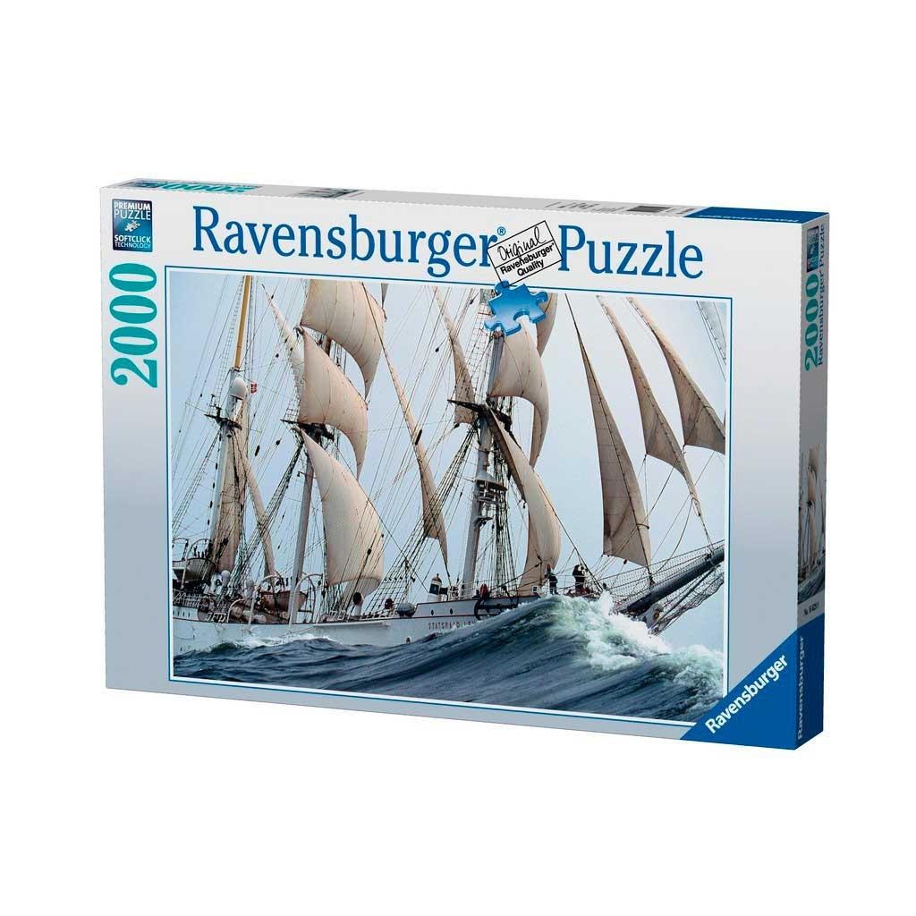 Puzzle Ravensburger Barco Statsraad Lehmkuhl de 2000 Piezas