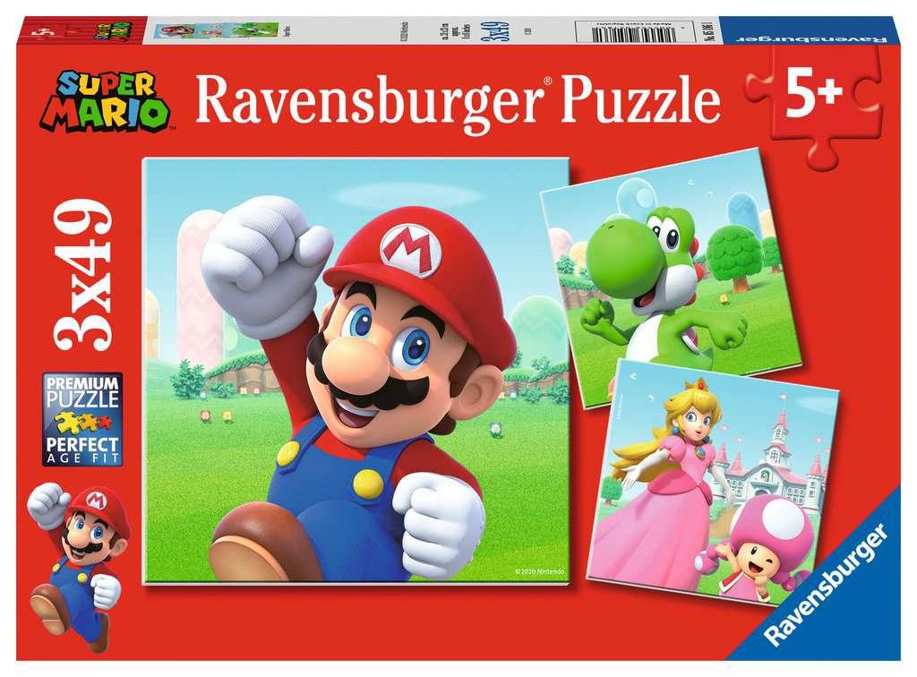 Puzzle Ravensburger Super Mario de 3x49 Piezas