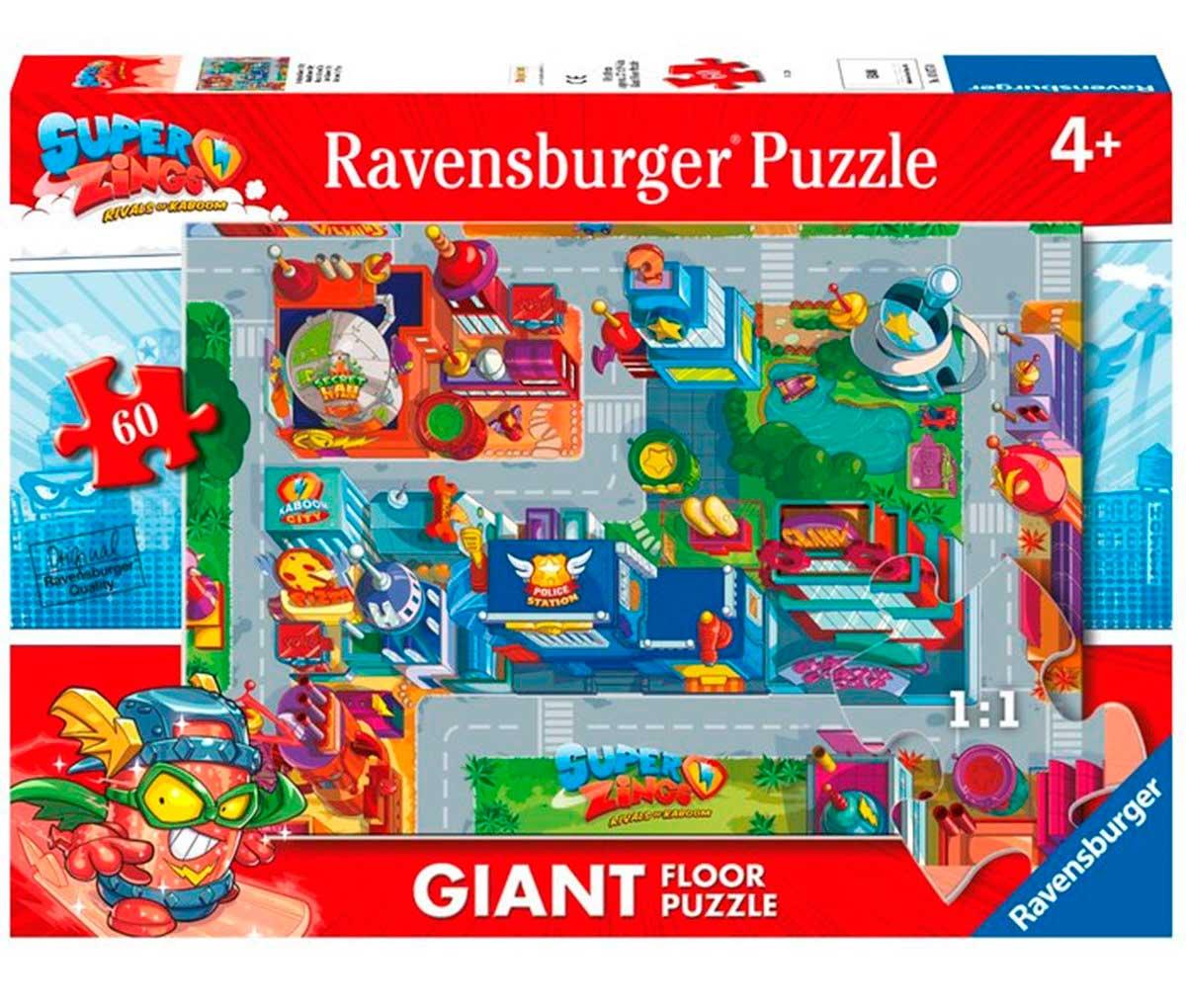 Puzzle Ravensburger SuperZings Mapa Kaboom City de 60 Pzs